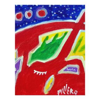 Abstrakte Eule durch Piliero Flyerbedruckung