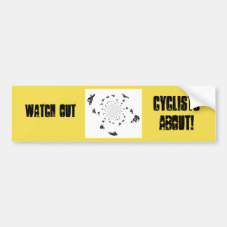 Abstrakte Fahrrad-Rennen-Kunst Autoaufkleber