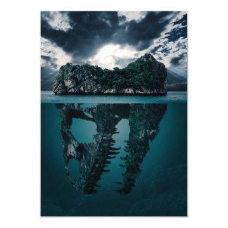 Abstrakte Fantasie-künstlerische Insel Karte