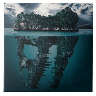 Abstrakte Fantasie-künstlerische Insel Keramikfliese