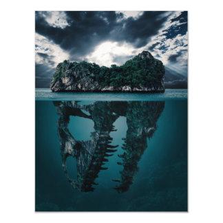 Abstrakte Fantasie-künstlerische Insel Magnetische Karte