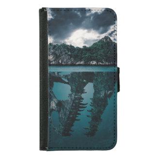 Abstrakte Fantasie-künstlerische Insel Samsung Galaxy S5 Geldbeutel Hülle