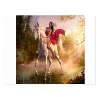 Abstrakte Fantasie-wirklicher Garten von Eden Postkarte