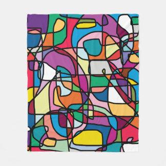 Abstrakte Farbdecke Fleecedecke