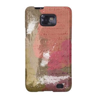 Abstrakte Farbe Splats in den Herbst-Farben Galaxy S2 Cover