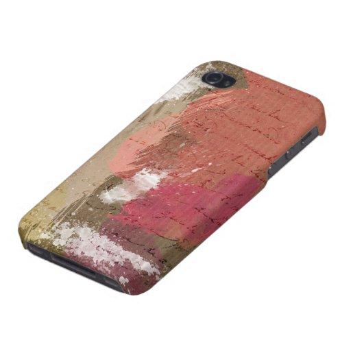 Abstrakte Farbe Splats in den Herbst-Farben iPhone 4 Etuis