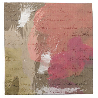 Abstrakte Farbe Splats in den Herbst-Farben Bedruckte Servietten