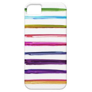 Abstrakte Farben-Bürsten-Anschläge der Malerei- b iPhone 5 Etuis