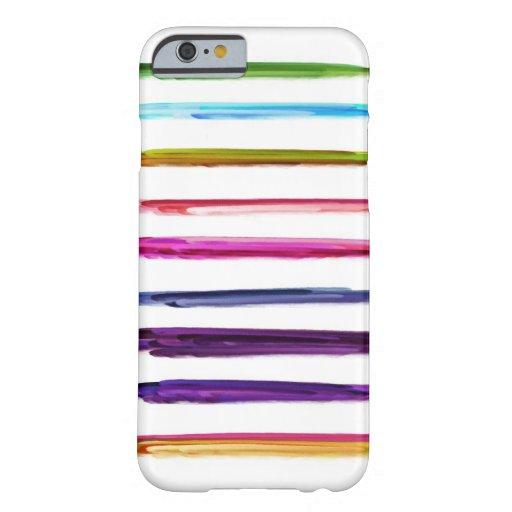 Abstrakte Farben-Bürsten-Anschläge der Malerei-  Barely There iPhone 6 Hülle
