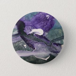 Abstrakte Farbenlinie Wellen des lila violetten Runder Button 5,1 Cm