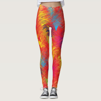 Abstrakte Farbgamaschen Leggings