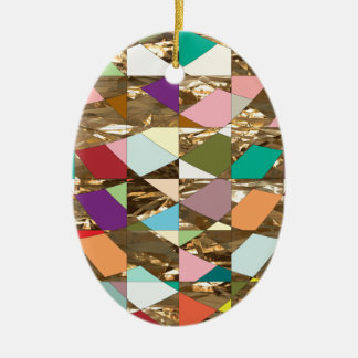 Abstrakte Farbgoldfolie Keramik Ornament