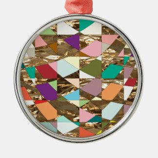 Abstrakte Farbgoldfolie Silbernes Ornament