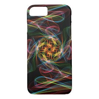 Abstrakte farbige Flammen iPhone 7 Hülle