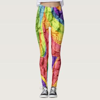Abstrakte Farbkunst #34 Leggings