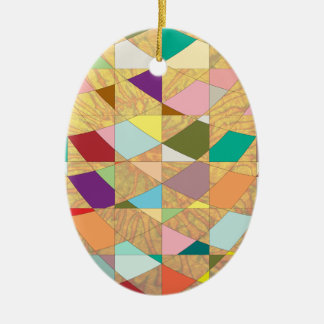 Abstrakte Farbsun-Explosion Keramik Ornament