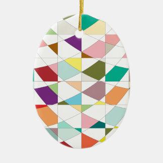 Abstrakte Farbtapisserie Keramik Ornament