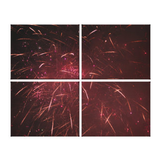 Abstrakte Feuerwerke Leinwanddruck