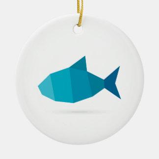 Abstrakte Fische Rundes Keramik Ornament