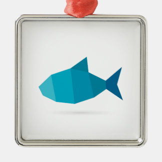 Abstrakte Fische Silbernes Ornament