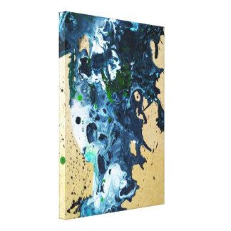 abstrakte flüssige Acrylmalerei Leinwanddruck