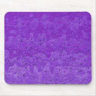 Abstrakte flüssige gewellte Steigung lila Mousepad