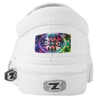 Abstrakte Form im bunten Hintergrund Slip-On Sneaker