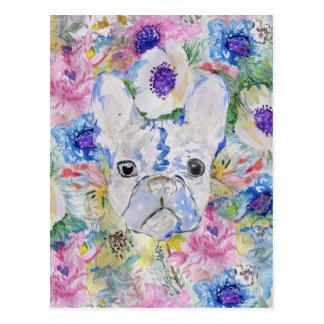 Abstrakte französische Bulldogge Postkarte