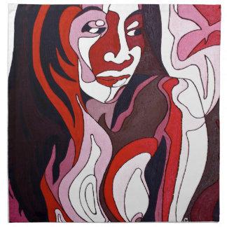 Abstrakte Frau 2 Serviette