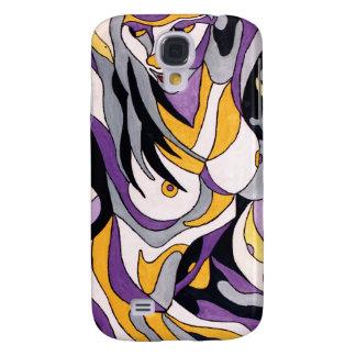 Abstrakte Frau 7 Galaxy S4 Hülle