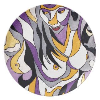 Abstrakte Frau 7 Melaminteller