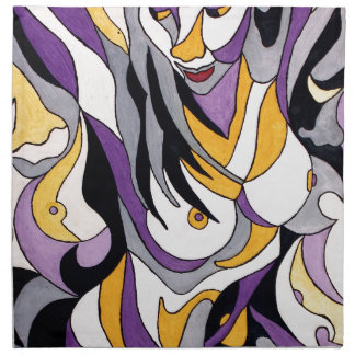 Abstrakte Frau 7 Stoffserviette