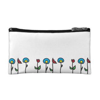 Abstrakte Frühlings-Blumen-Kosmetik-Tasche Makeup-Tasche