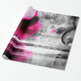 Abstrakte Fuchsien-, Graue und Geschenkpapier