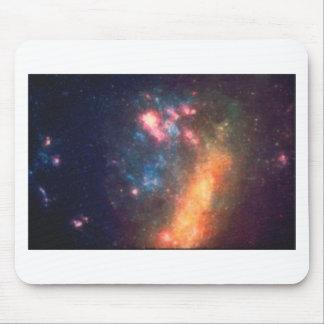 Abstrakte galaktische Farbe der Nebelfleck-Wolke Mousepad