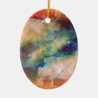 Abstrakte Galaxie Marbleized Kunst Ovales Keramik Ornament