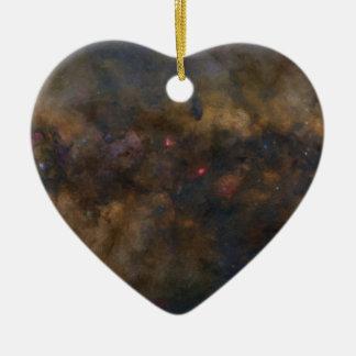 Abstrakte Galaxie mit kosmischem Wolke 2 sml Keramik Herz-Ornament