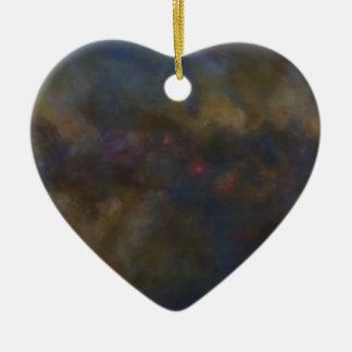 Abstrakte Galaxie mit kosmischem Wolke sml Keramik Herz-Ornament