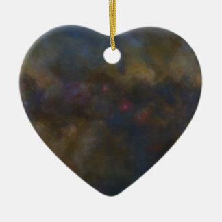 Abstrakte Galaxie mit kosmischer Wolke Keramik Herz-Ornament