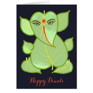 Abstrakte Ganesha glückliche Diwali Gruß-Karte Karte