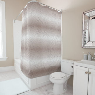 Abstrakte gebürstete metallische Beschaffenheit Duschvorhang