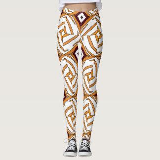 Abstrakte geometrische, fantastische Verzierung Leggings