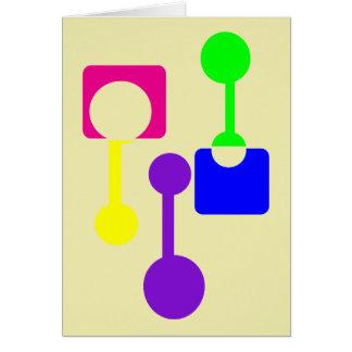 Abstrakte geometrische Formen Grußkarte