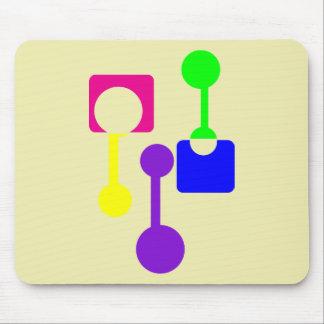 Abstrakte geometrische Formen Mousepad
