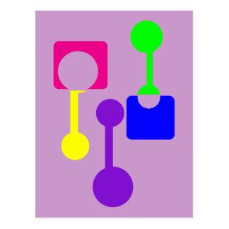 Abstrakte geometrische Formen Postkarte