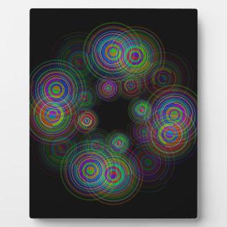 Abstrakte geometrische Kreise Fotoplatte