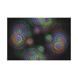 Abstrakte geometrische Kreise Leinwanddruck