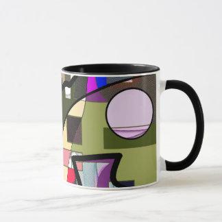 Abstrakte geometrische moderne Tasse Tasse