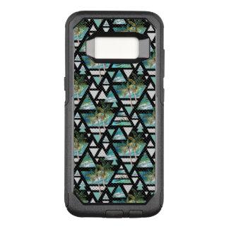 Abstrakte geometrische Palmen u. Wellen-Muster OtterBox Commuter Samsung Galaxy S8 Hülle