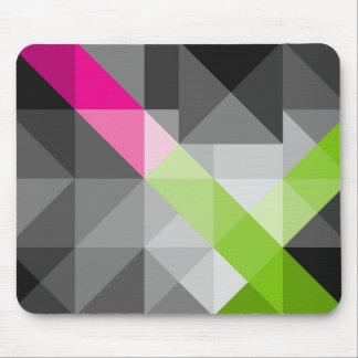 Abstrakte geometrische vibrierende Farben Mousepad